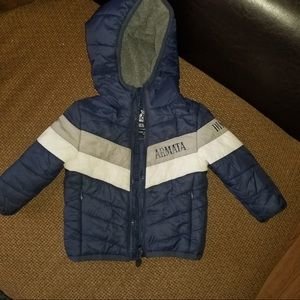 This is a Armata Di Mare coat for boys.